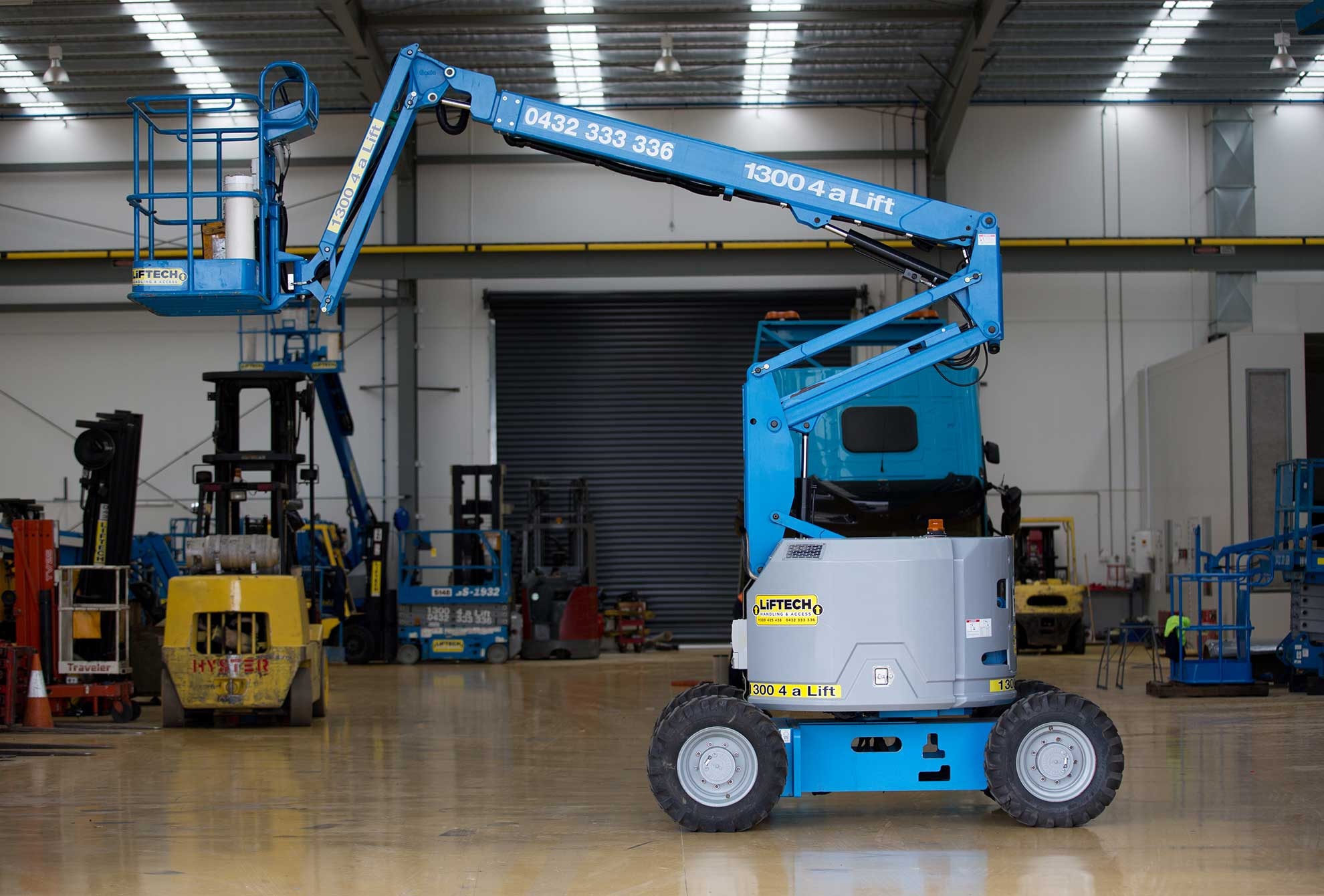 Hire Compact RT Knuckle Boom Lift Melbourne
