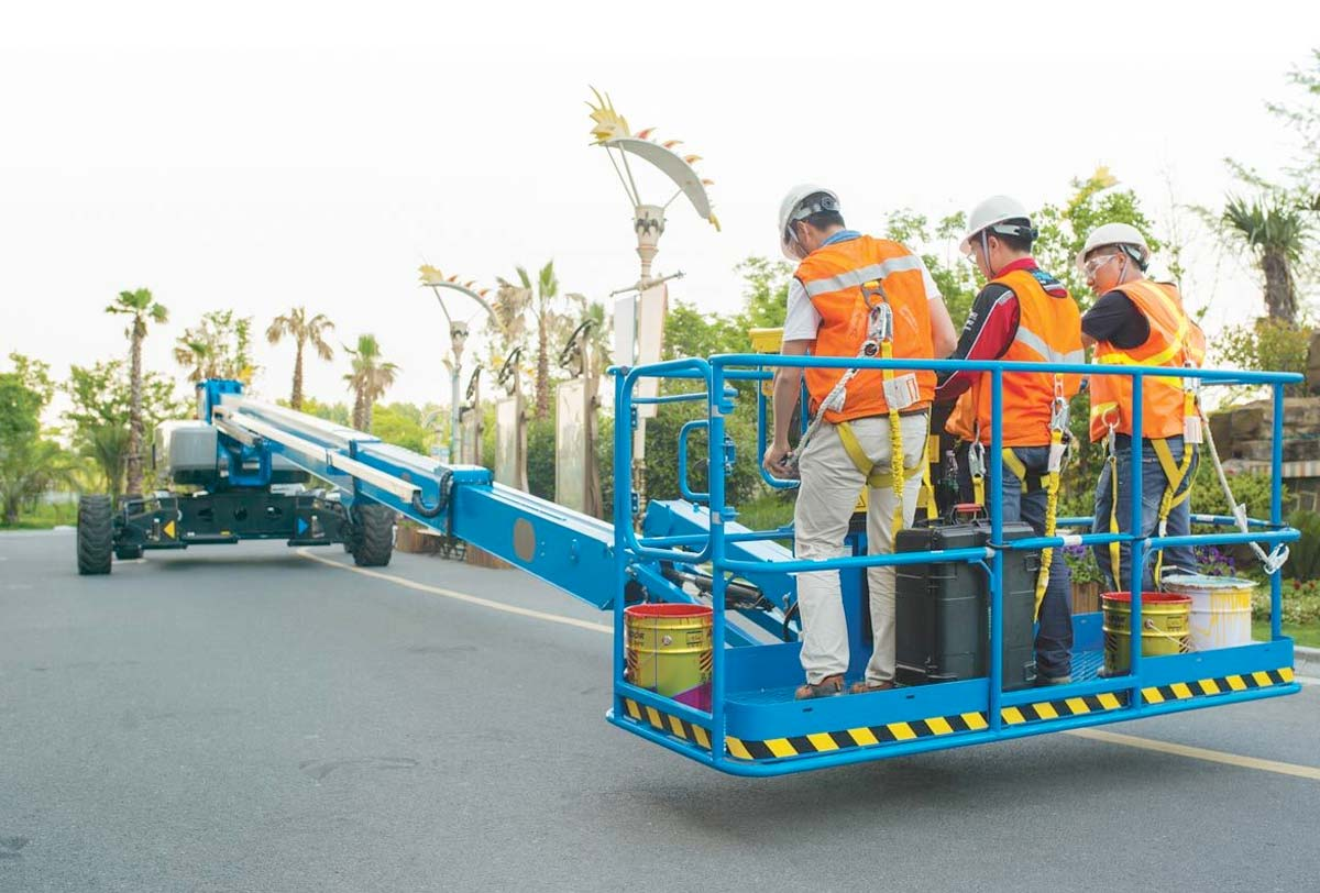 38m RT Straight Boom Lift for Rental