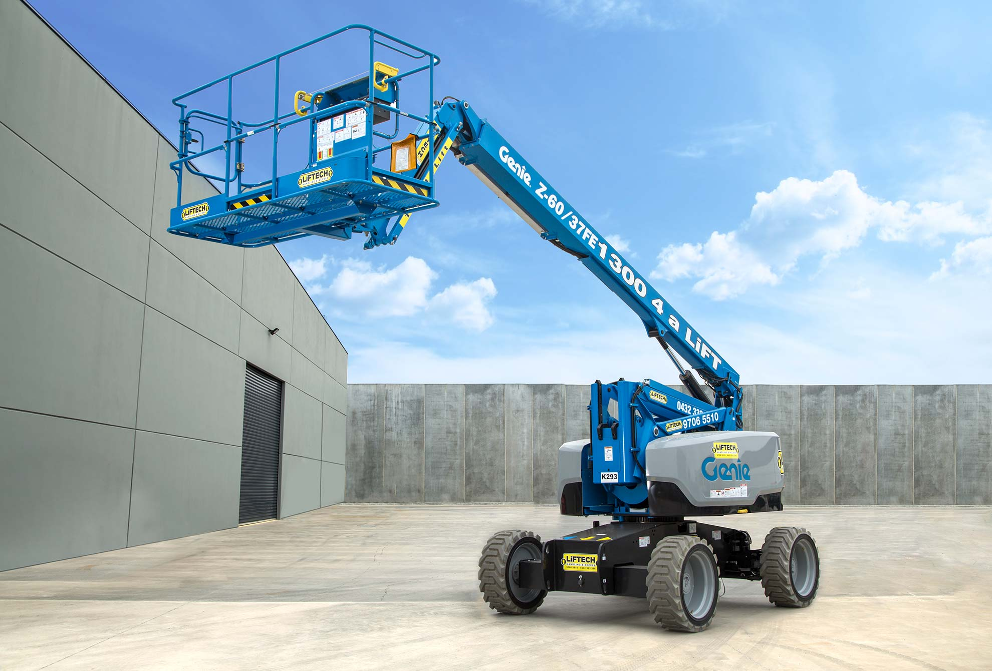 8 metre diesel hybrid knuckle boom lift