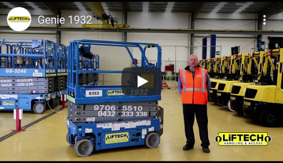 Genie 1932 6 Metre Scissor Lift Video
